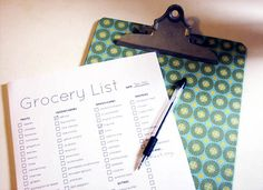 Great grocery list planner