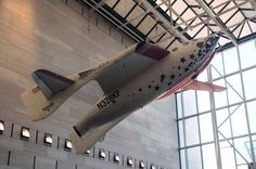 SpaceShipOne, as seen before it touched down in the Milestones of Flight gallery at the National Air and Space Museum, on March 27, 2015.