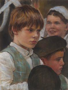 Breton children at a festival