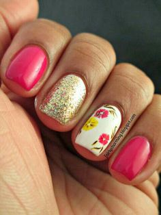 Pink and gold flowers
