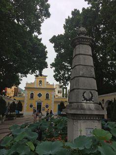 Coloane, Macau © Viaje Comigo Macau China, Macao, Mansions, House Styles, Gardens, Rammed Earth, Temples, Viajes, Traveling