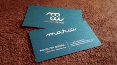 MARŮŮ BUSINESS CARD. #businesscard #maruuleather #leatherdesign
