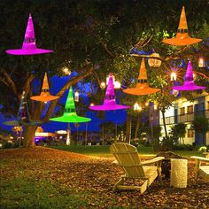 Halloween glowing witch hat yard decorations. DIY Halloween Decorations For Outdoor And Home Decor. Explore these DIY decoration and Halloween Ideas for 2019! #halloween #halloweendecorations #outdoordecor Outdoor Halloween Parties, Cheap Halloween Decorations, Diy Party Decorations, Outdoor Decorations, Halloween Decorating Ideas, Office Decorations, Diy Decorating, Jar Decoration Ideas, Hat Decoration