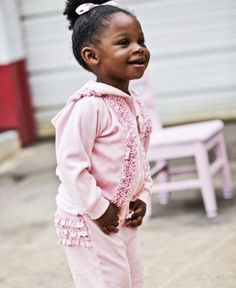 This ruffled hoodie is your favorite weekend jumpsuit, just mini for her!