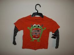 Holiday editions boys long sleeve shirt NEW (GIMME CANDY) monster size 2t