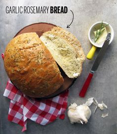 Garlic Rosemary Bread via Take a Megabite