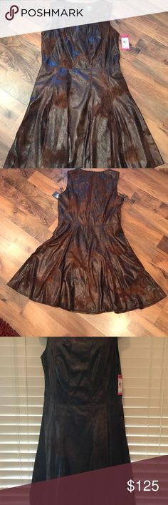 ✨NWT: Vince Camuto brown skater dress✨ New w/tags: Brown Vince Camuto skater dress. Size 10 Vince Camuto Dresses