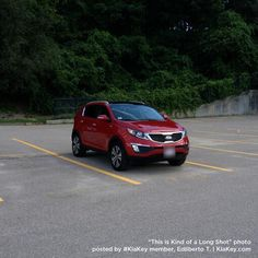 Edilberto T.'s Signal Red #KiaSportage stands out in any parking lot. Show us yours on #KiaKey http://spr.ly/6011osQ3 pic.twitter.com/AR6qjbukTp