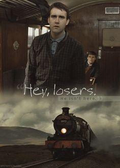 """Hey, losers. He isn't here."""