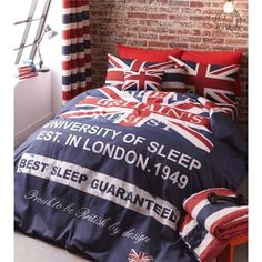 Catherine Lansfield Global Escapes Britains Finest Navy Duvet Cover Set - Double