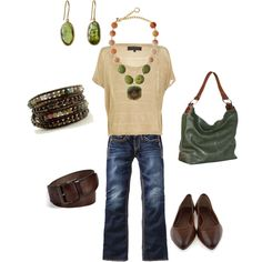 brown & green