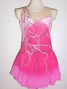 Beautiful Ice Skating Dress Size Ladies Large | eBay