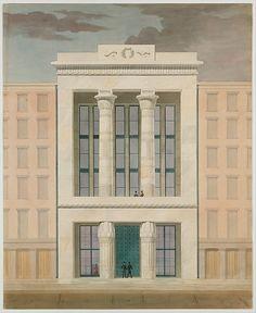 Alexander Jackson Davis (American, 1803–1892). American Institute, New York City (front elevation), 1834-1835. The Metropolitan Museum of Art, New York. Harris Brisbane Dick Fund, 1924 (24.66.438)