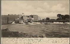 1907 THE DAM Raquette River Potsdam NY UDB Postcard