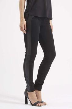 **PU Detail Leggings by Rare - Topshop