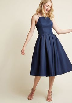 Chi Chi London Beloved and Beyond Midi Dress in Navy | ModCloth
