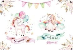 Illustration about Isolated cute watercolor unicorn clipart. Illustration of blossom, kids, cartoon - 101289013 Clipart, Unicorn Poster, Unicorn Print, Watercolor Unicorn, Unicorn Illustration, Pink Animals, Create Invitations, Princess Cartoon, Backdrops For Parties
