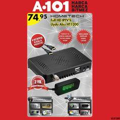 #Hometech HT 1200 SE uydu alıcısı 74,95TL fiyatı ile 2 Temmuz Perşembe tüm #A101 marketlerde! Ürün Özellikleri: http://blog.hometech.com.tr/a101-ht-1200-se-2/