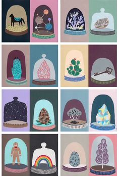 """Marina Munn: """"A small personal project I completed recently. [...] It was a story about a girl collecting random curious objects and cataloging them."""""""