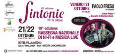 Sintonie Hi-Fi Show il 21 e 22 ottobre ledizione 2016 il programma