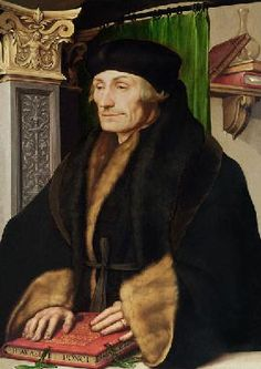 Hans Holbein the Younger - Portrait of Erasmus, 1523 (oil and egg tempera on panel)