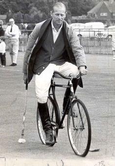 Prince Philip 1967 bicycle polo