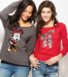 love the minnie mouse sweater.