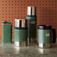 Thermos- want Stanley, Vacuum Bottle, Hammertone Green http://www.shopstanley-pmi.com/product/7095