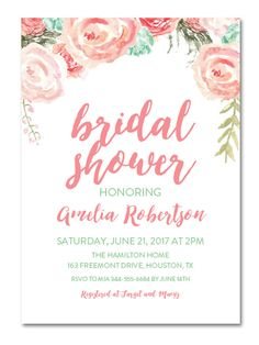 17 printable bridal shower invitations you can diy - Free Printable Bridal Shower Invitations Templates