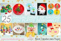 Manualidades de Navidad con platos desechables para hacer con niños Craft Box, Toy Craft, Winter Activities, Preschool Activities, Plate Crafts, Paper Toys, Creative Art, Crafts For Kids, Christmas Ornaments