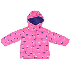 55f70b296 Carter's Girl's Hooded Heart Print Bubble Coat - Overstock™ Shopping -  Great Deals on Carter's