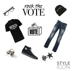 """""""lets rock the vote fellas🙌🏻"""" by echo-adi on Polyvore featuring No Fixed Abode, adidas, Topman and Bling Jewelry"""
