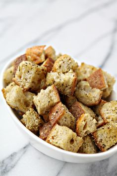 If you know how to make croutons at home, you're ahead of the game. We'll teach you how, and you'll be unstoppable. Think of all the combinations!