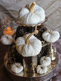 Ornate Splendor: Outrageously Elegant White Autumn Pumpkins