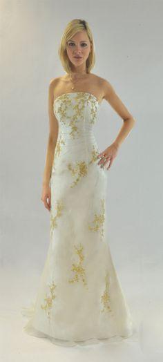 Robe de soirée bustier glamour avec longue traîne