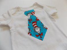 Dr Seuss Baby Tie Onesie by BrikayDesigns on Etsy, $12.00