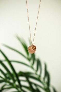 This gold-plated necklace features a hand-stamped disc paired with a disc. chain creates the perfect length for every occasion. - Nickel free - Care instructions included - Made in the USA Disc Necklace, Gold Plated Necklace, Gold Necklace, Photo Jewelry, Fashion Jewelry, Hair Jewelry, Jewelry Photography, Fashion Photography, Product Photography