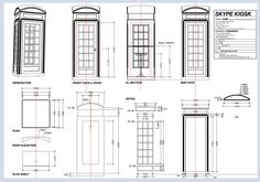 english phone booth plans for building - Google Search