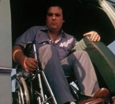 """Franklin from The Texas Chainsaw Massacre. I love it when he's cutting the van with his knife, they tell him to stop and he's like """"oh. I just started doin at."""" Cracks me up...guess I'm easily amused."""