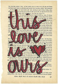 This Love is Ours original illustration Taylor Swift lyrics