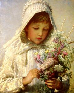 A Posey Of Pretty Flowers ~ Karl Wilhelm Bauerle (1831-1912)