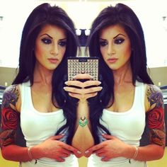half sleeve <3  hair and makeup are fab too!!  I THINK I WANT THIS HAIR CUT