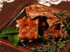 Get your napkins ready for these maple glazed ribs.