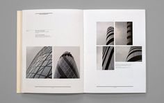 Simple layout for photographs - nice use of white space and alignment.
