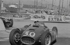 Eugenio Castellotti in the Monaco Grand Prix Monaco Grand Prix, Carrera, Motors, Ferrari, 1970s, Racing, Cars, Top, Auto Racing