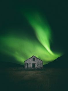 And here it is. Northern Lights dancing above an abandoned farmhouse. /// Westfjords © Adam Biernat