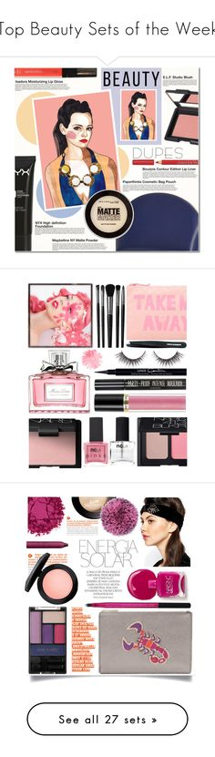 """""""Top Beauty Sets of the Week"""" by polyvore ❤ liked on Polyvore featuring beauty, e.l.f., Bourjois, Isadora, NYX, Paperthinks, Maybelline, Beauty, makeup and cheap"""