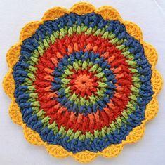 Front Post Frenzie Potholder: free #crochet #potholder pattern