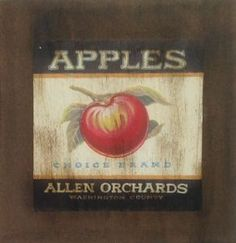 Classic Apples - São produzidas em Mdf Betumizado,cortados levemente irregulares com imagem envelhecida. Acompanha a fita Fixa Forte.  https://www.coisasdelolla.com