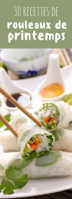 Nutrition & Recipe: Fresh, balanced and easy to make: 30 recipes of spring rolls! Nutrition & Recipe: Illustration Description Fresh, balanced and easy to make: 30 recipes of spring rolls! Asian Recipes, Healthy Recipes, Ethnic Recipes, Food Porn, Good Food, Yummy Food, Light Recipes, No Cook Meals, Food Inspiration